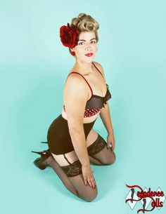 Our Strawberry Smooch bullet bra, photo by Autumn Luciano. Frantic About Frances, lingerie for retro-loving pin-up girls ♥