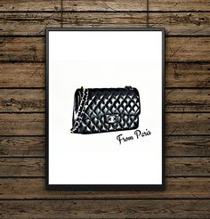 "Affiche Illustration Sac ""Chanel From Paris"""