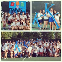 Zeta Omicron Chapter, Richmond, during their annual philanthropy event, Kappa Kourtside. It is a doubles tennis tournament to raise money for our National Philanthropic Partner, Reading is Fundamental. The ladies raised $1,500 this year! #KKG #KKG1870