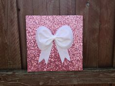 Pink sequence Bow Wall hanging Wall decor