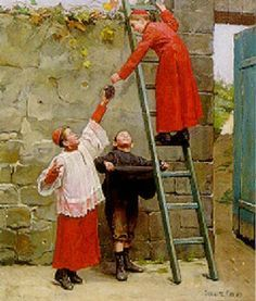 "I Told you so"" by Paul Charles Chocarne Moreau. French artist 1855 ... www.pinterest.com236 × 277Buscar por imagen Mischievous Boys, Charleschocarne Moreau, Paul Charleschocarne, Paul Charles Chocarne Visitar página Ver imagen"