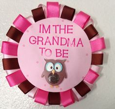 Items similar to Grandma To Be Pink Owl Baby Shower Pin on Etsy Owl Shower, Baby Shower Pin, Shower Bebe, Shower Party, Baby Shower Parties, Baby Shower Themes, Baby Shower Decorations, Baby Shower Gifts, Shower Ideas