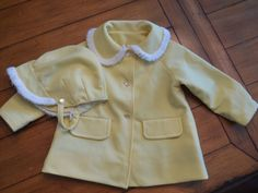 Size 24 mo 3T  Vintage Handmade Yellow Toddler girl by LittleMarin,