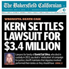 #KernCounty news: Our #civilrights #wrongfuldeath case involving #DavidSilva has settled. Family will speak at 9:30 today during a press conference. Watch it at facebook.com/chaincohnstiles.