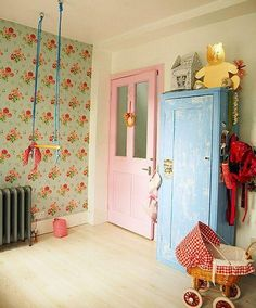 Vintage kids' rooms - if I knew I was having a second girl!