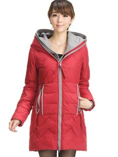 f6914df1ef849 Casual Red Polyester Woman s Long Overcoat - Women s Coats - Outerwear -  Women s Clothing. Topb2c · Women s Coats · The North Face Women s RAIN  JACKET.