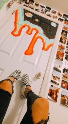 Photo Wallpaper Bedroom Pictures 22 Ideas For 2019 Painted Bedroom Doors, Closet Doors Painted, Painted Doors, Art Hoe Aesthetic, Aesthetic Room Decor, Aesthetic Vintage, Vsco, Bedroom Door Decorations, Cool Doors