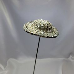 Antique EXTRA LARGE Rhinestone Hatpin in the Shape of a Hat, NR #AntiqueHatpin