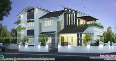 New Modern House 35 Lakhs Kerala House Design New Modern House House Architecture Design
