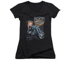 Betty Boop - Choppers Junior V-Neck T-Shirt