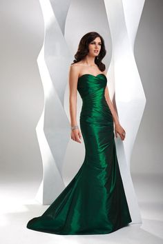 Mermaid/Trumpet Sweetheart Sweep Brush Taffeta  With Ruffles Prom Dress