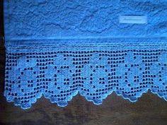 Artesanatos Mãe e Filha: bicos de croche para toalha de banho