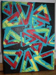 Verrückte Dreiecke, in Acryl gemalt