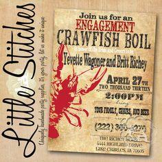 Crawfish Boil Invitation by ShopLittleStitches on Etsy, $15.00