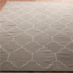 Guest room/office  Moroccan Tile Dhurrie Rug: 4 Colors