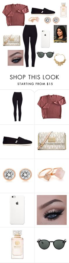 """Untitled #19"" by ermiraadili on Polyvore featuring TOMS, Michael Kors, Tory Burch, Ray-Ban and Oscar de la Renta"