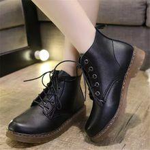 Moda para mujer botines zapatos para las niñas de las nuevas mujeres de Oxford zapatos planos de cuero de imitación de alta calidad para mujer zapatos Martin(China (Mainland))