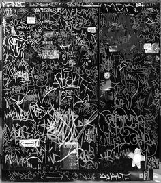 never considered making my graffiti black and white....