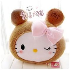 Sanrio. -Hello Kitty Cookie Face Cushion Pillow Plush 14