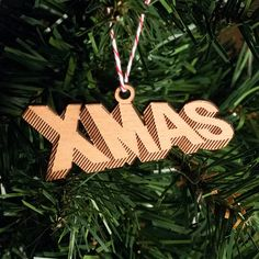 Ornament --Xmas Lasercut available at San Francisco Bazaar's holiday show on 12/7 & 12/8!
