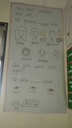 Mé féin Class Displays, Classroom Displays, Gaelic Words, Literacy And Numeracy, Irish Language, 5th Class, Thing 1, Primary Teaching, Writing Tips