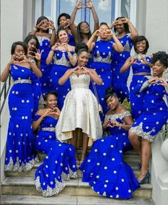 Amazing Royal Blue Mermaid Bridesmaid Gowns 7 Styles 2016 New Arrival Bridesmaids Dress For Wedding Women Special Occasion Dress African Bridesmaid Dresses, African Wedding Attire, African Attire, African Dress, Prom Dresses, Bridesmaid Gowns, Dresses 2016, African Print Fashion, African Fashion Dresses