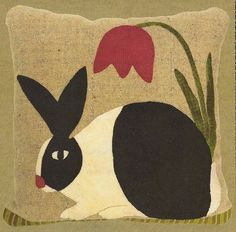 Primitive Folk Art Wool Applique Pattern by PrimFolkArtShop, $8.95