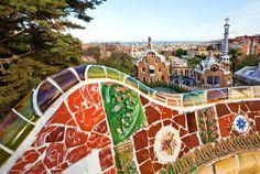 Parque Güell, una de las obras estrella de Gaudí.