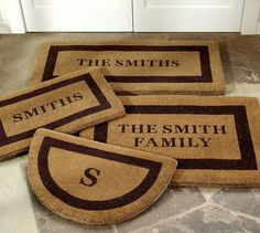 Alternate View Personalized Housewarming Gifts, Personalized Door Mats, Hostess Gifts, Personalized Wedding, Apartment Decorating For Couples, Ideas Prácticas, Gift Ideas, Decor Ideas, Front Door Mats