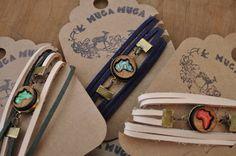 5 Teakwood African wrap bracelets with african pattern resin insert by MugaMugaSouthAfrica on Etsy Wrap Bracelets, Unique Gifts, Resin, African, Pattern, Handmade, Etsy, Shopping, Vintage