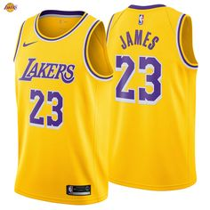 fa83cb7e4 LeBron James 23 Los Angeles Lakers Nike Swingman Jersey 2018 19 Icon Edition  King NBA