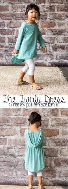 The Twirly Dress Free PDF pattern from Nap-Time Creations