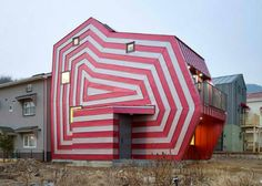 the Lollipop House by architect Moon Hoon in Giheung-Gu, South Korea