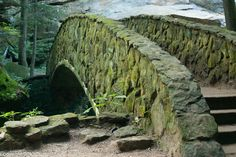 LOVE this Arched stone foot bridge at Old Mans Cave Hocking Hills State Park