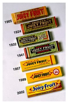 Juicy Fruit Packaging from to inspiration chewing gum from the storeroom @ POTW