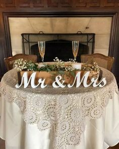 Mr and Mrs wedding signs table decoration. Rustic wedding centerpieces wedding r. Mr and Mrs wedding signs table decoration. Wedding present, wedding arage. Mr And Mrs Wedding, Fall Wedding, Dream Wedding, Trendy Wedding, Wedding Country, Wedding Vintage, Perfect Wedding, Elegant Wedding, Countryside Wedding