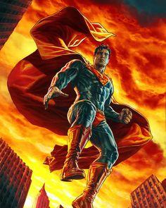 Superman, Action Comics 1000 cover by Lee Bermejo. Artwork Superman, Kal El Superman, Arte Do Superman, Superman Story, Superman Wallpaper, Superman Man Of Steel, Superman Family, Marvel Dc Comics, Dc Comics Art