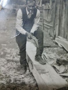 My grand grand father in work