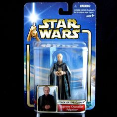 Star Wars Episode 2 AOTC Supreme Chancellor Palpatine Action Figure NEW #Hasbro Hasbro #StarWars #Santa #Toy