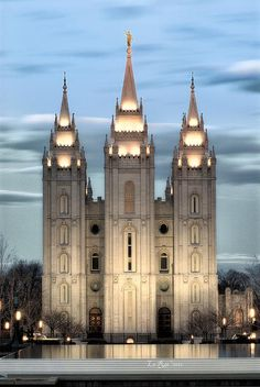 Salt Lake City, Utah LDS (Mormon) Temple.  The Church of Jesus Christ of Latter Day Saints builds these temples all around the world where families are sealed for time and all eternity. This is the most famous of all the temples and millions of tourists come through Temple Square from all over the world throughout the year to see this unique architecture built by a fast growing religion.