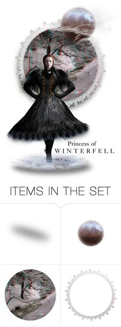 """""""The Princess of Winterfell"""" by annette-heathen ❤ liked on Polyvore featuring art, modern and garethpugh"""