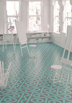 Colorful Tile That Can Create Various Patterns by Rotating It