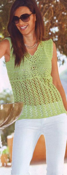 Summer women crochet vest  MADE TO ORDER by AsDidy on Etsy, $68.00 Crochet Cardigan, Knit Crochet, Crochet Tops, Crochet Motif Patterns, Crochet Cover Up, Crochet Woman, Crochet Fashion, Beautiful Crochet, Crochet Clothes