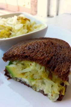 Avocado Reuben (vegan)