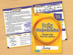 Daily Comprehension Common Core Practice Journal - Gr. 3-4 - Each