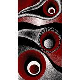 1504 Red white Purple Gray Black Modern Area Rug Comteporary Abstract Carpet new Modern Area Rugs, Contemporary Area Rugs, Orange Area Rug, White Area Rug, White Rug, Black White Red, Circle Design, Rugs On Carpet, Bunt