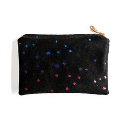 Favorite No 3 from #MyHowkapow @Howkapow : Rainbow Confetti Pouch - Black