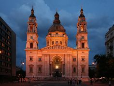 St Stephens Basilica in the Evening
