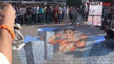 Tracy Lee Stum creates Bollywood in 3D on the streets of Mumbai, India.