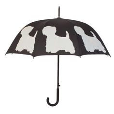 West Highland Terrier Stick Umbrella. Available @ www.let-it-rain.com
